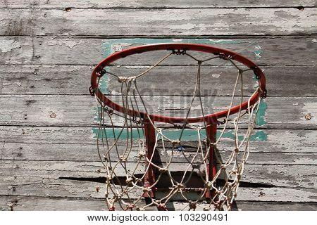 Basketball hoop in the school Thailand
