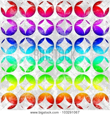 Seamless Pattern With Colored Circles