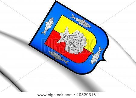 Flag Of The Baja California Sur, Mexico.