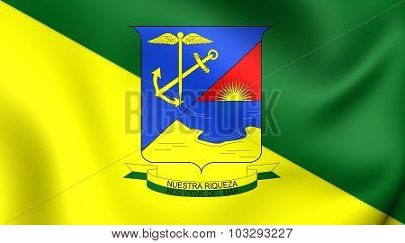 Flag Of Buenaventura City (valle Del Cauca), Colombia.