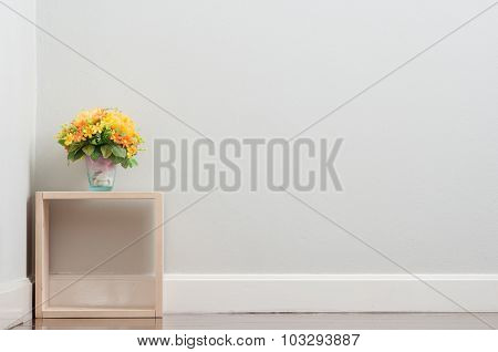 Artificial flower on the box.