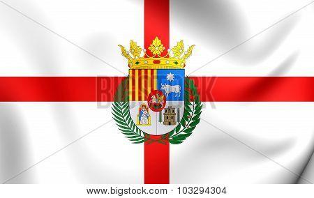 Flag Of Teruel Province (aragon), Spain.