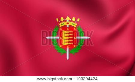 Flag Of Valladolid City, Spain.