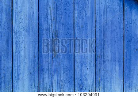 Old Blue Wooden Board Planks Background Texture