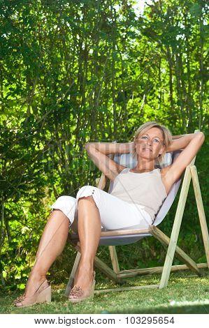 Cute Woman Relaxing