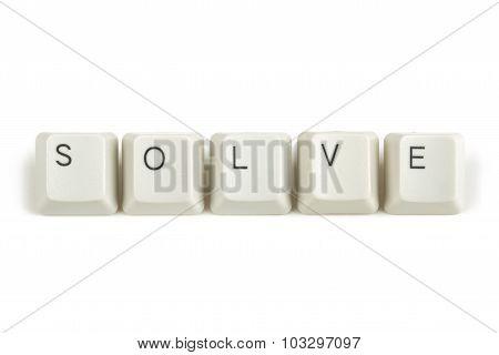 Solve From Scattered Keyboard Keys On White