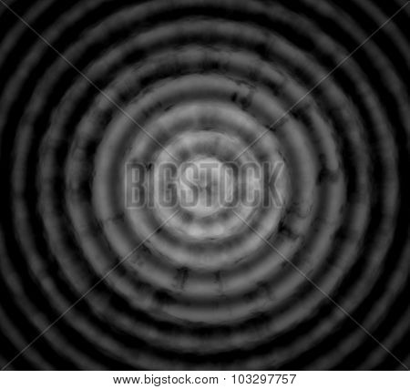Abstract Black Gray Background With Concentric Circles