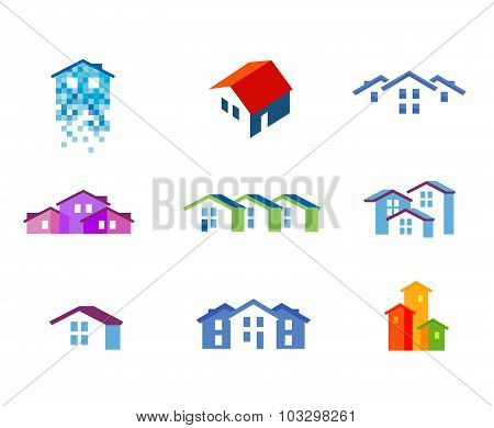 house vector logo design template. town or building icon