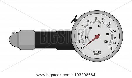 Tire pressure gauge. Color