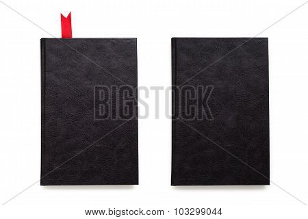 Empty black book covers