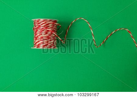 Twine over green