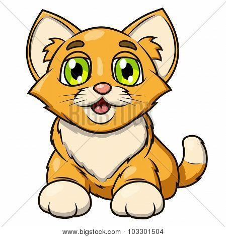 Smiling little kitten 2