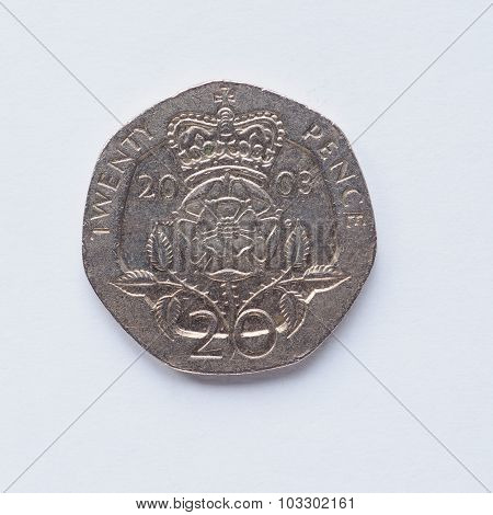 Uk 20 Pence Coin