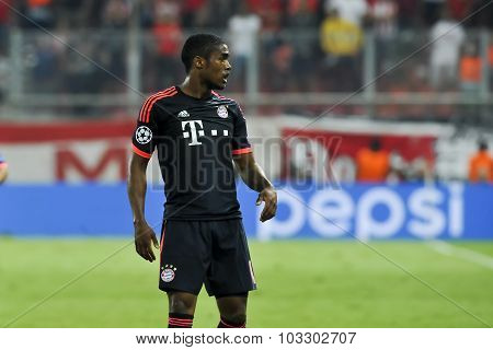 Douglas Costa During The Uefa Champions League Game Between Olympiacos And Bayern, In Athens, Greece