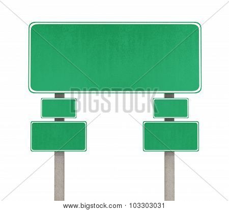 Road Sign. Pointer On The Road Isolated On White Background