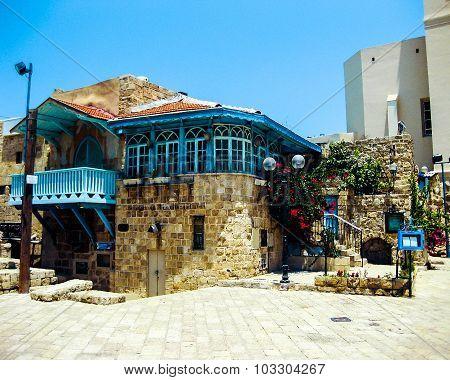 Historic Building Of Crusades Era. Jaffa, Israel