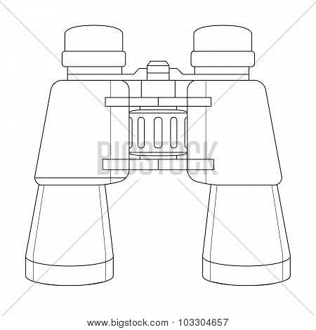 Vector binoculars icon. Contour