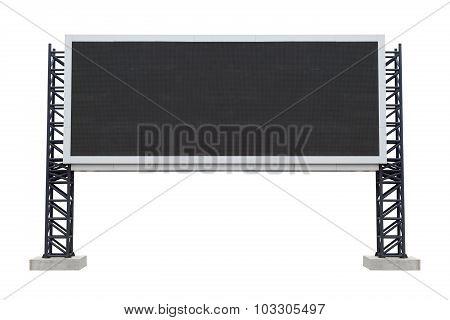 Large Scoreboard Stadium Isolated On White Background. Use Clipping Path