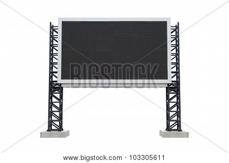 Medium Center Scoreboard Stadium Isolated On White Background. Use Clipping Path