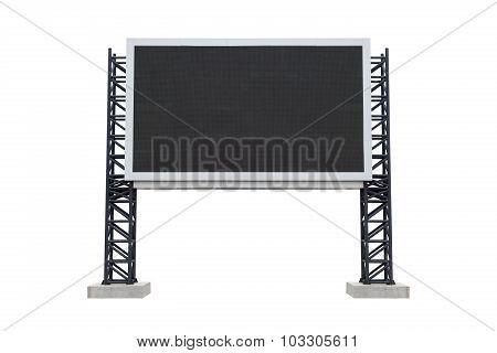 Medium Center Scoreboard Stadium Isolated On White Background. Use Clipping Path