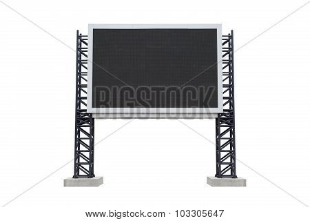 Mini Scoreboard Center  Stadium Isolated On White Background. Use Clipping Path