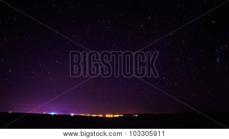 Real Night Sky Stars Background Texture