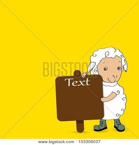 Arabic Islamic Of Text Eid-ul-adha On Yellow Background