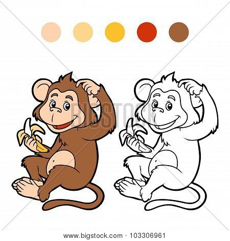 Coloring Book For Children: Monkey