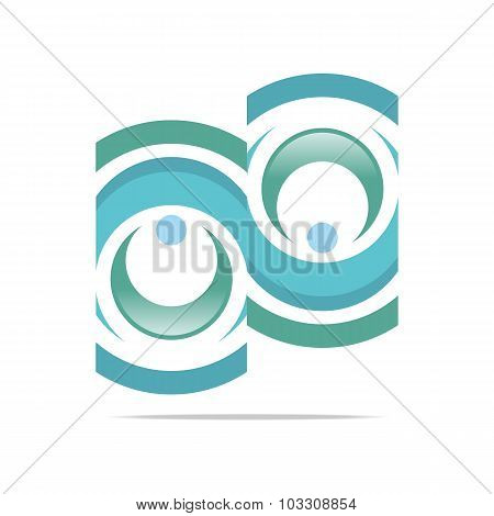 Logo Circle letter round vector icon design