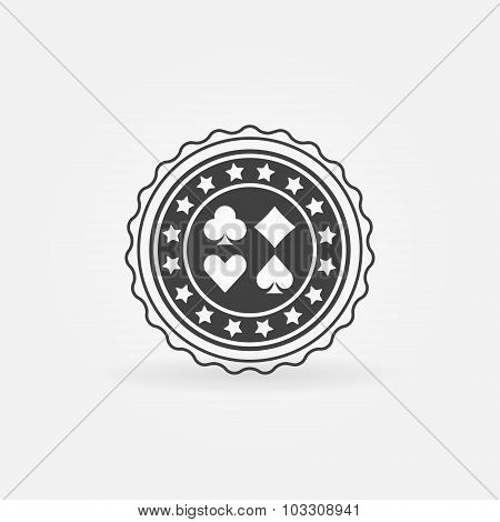 Poker badge or label