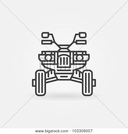 Quad bike icon or logo
