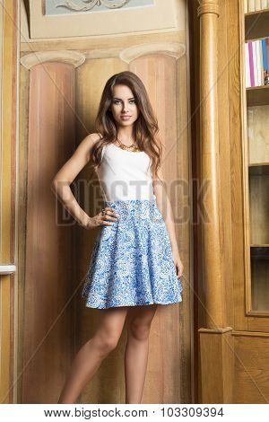 Lovely Woman In Elegant Room