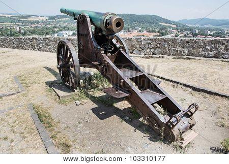 Rusty Historic Cannon, Trencin, Slovakia