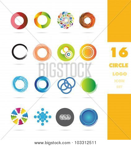 Circle Business Logo Icon Set