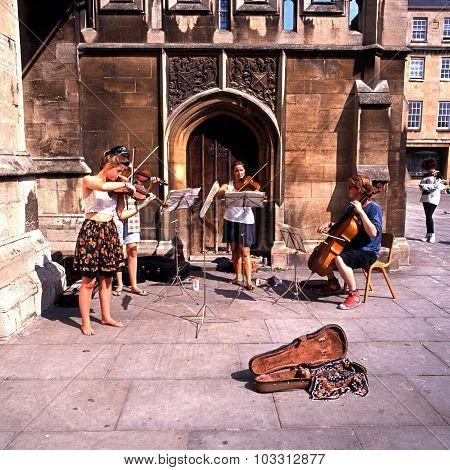 Classical street musicians, Bath.