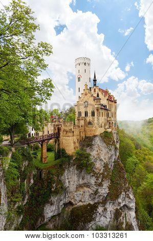 Schloss Lichtenstein castle on the cliff Germany