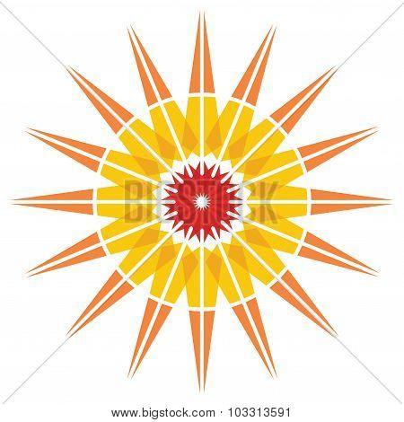 Color Sun Illustration
