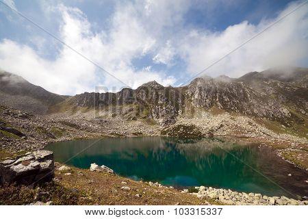 Majestic Mountain Lake In Turkey