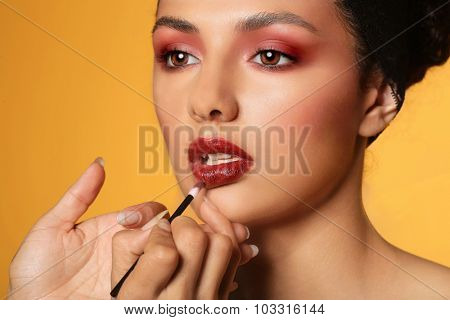 Pretty Ethnic Woman With High End Make Up