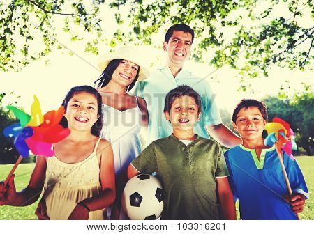 Family Happy Vacation Outdoors Relaxation Nature Concept