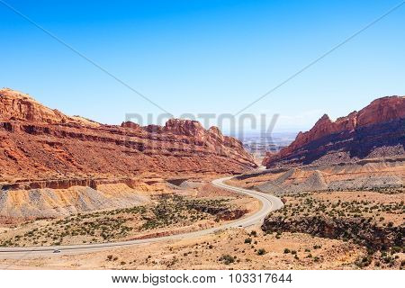 Utah USA passage through spotted wolf canyon
