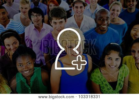 Add Friend Community Friendship Connection Concept