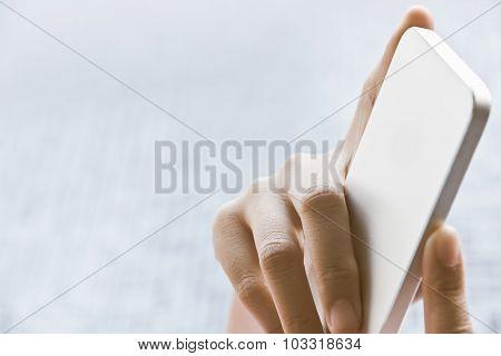 close up image of using smart phone