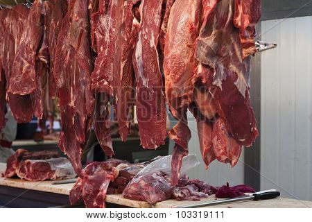 Meat At A Market