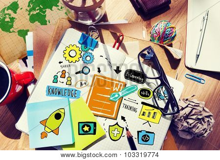 Business Training Strategy Development Planning Working Concept