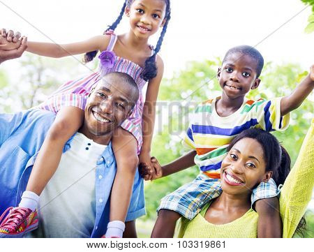 Family Bonding Happiness Togetherness Park Concept