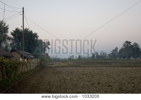 Aldeia perto da selva de Chitwan
