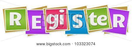 Register Colorful Blocks