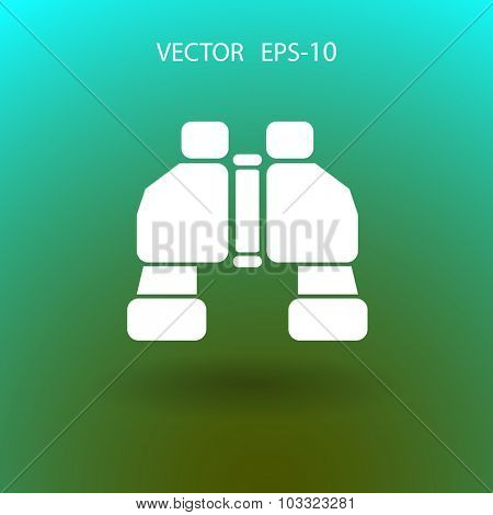 Binoculars icon, vector illustration