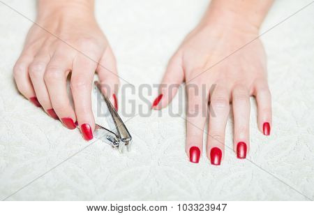 Hand Manicure With Nail Clipper